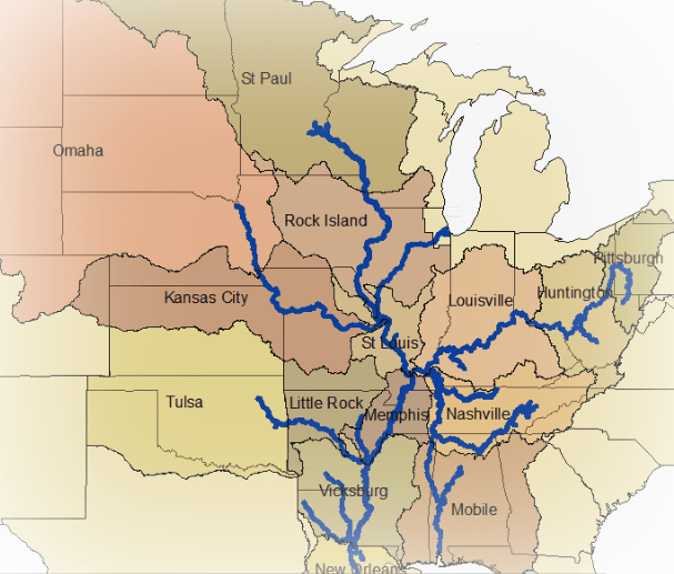 Map Of Us Rivers - Map us rivers