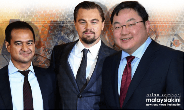 From left to right: Riza Aziz, Leonardo DiCaprio, Jho Low. Picture taken from Malaysiakini.