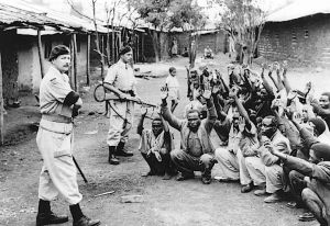 British-colonial-officers-stand-guard Kenya