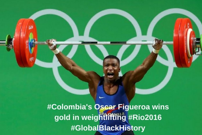 Colombia's Oscar Figueroa wins gold in weightlifting#GlobalBlackHistory