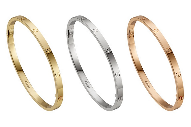 The Cartier Love bracelet for 2017   Global Blue Cartier Love bracelet 2017 in yellow  white and rose gold