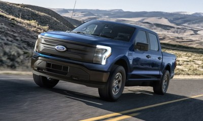 2022 Ford F-150 Lightning Pro. Pre-production model with available features shown. Available starting spring 2022.