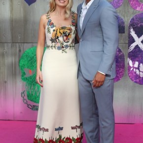Will Smith and Margot Robbie at The Suicide Squad Premier