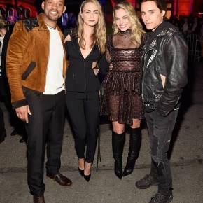 Suicide Squad - Will Smith, Cara Delevingne, Margot Robbie and Jared Leto 