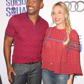 Will Smith and Margot Robbie at The Suicide Squad