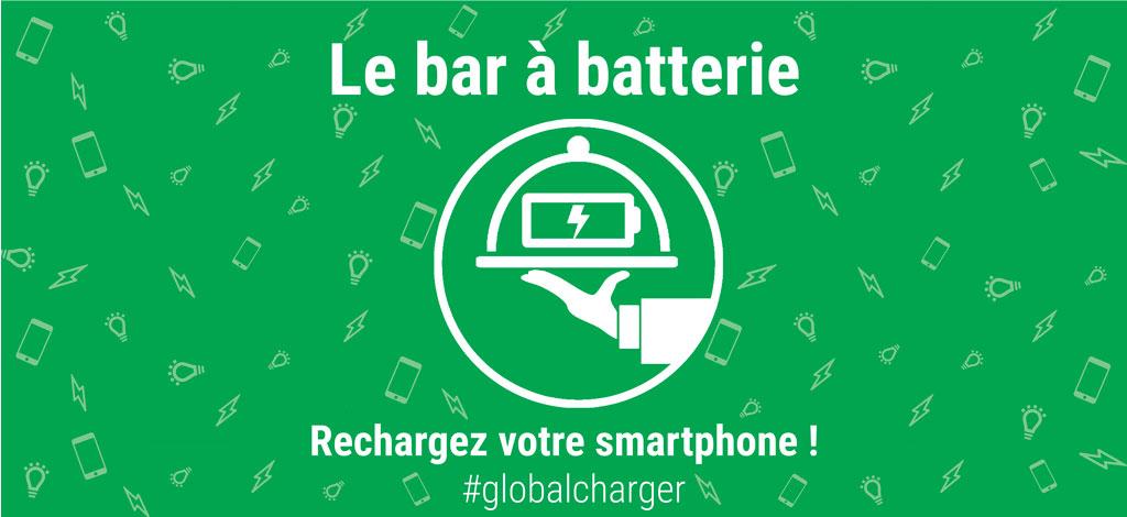 Le bar à batterie Global Charger