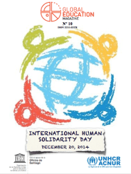 Global Education Magazine, International Human Solidarity Day, unesco, acnur, unhcr, cover