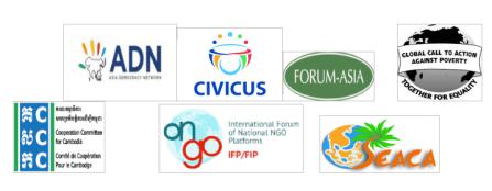 ADN, CIVICUS, Forum Asia, GCAP, CCC, IFP, SEACA, global education magazine