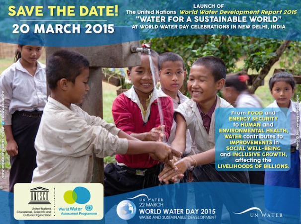 The UN World Water Development Report 2015, Water for a Sustainable World, unesco