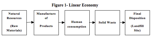 Figure 1- Linear Economy, fernando alcoforado, global education magazine