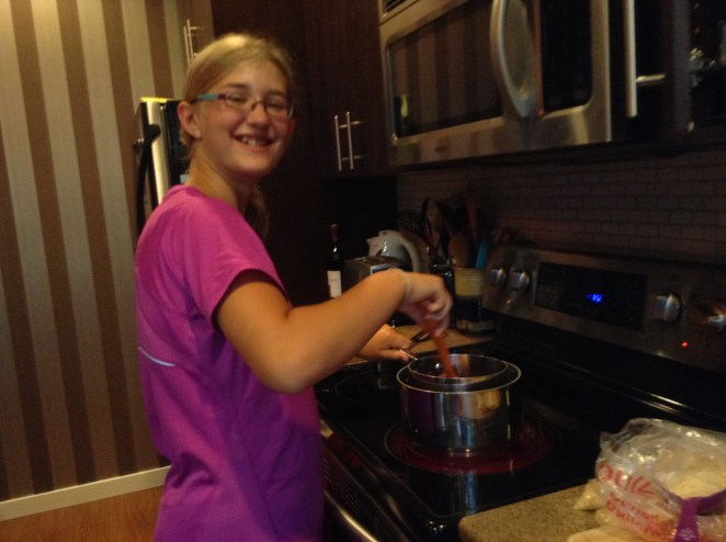 Mixing in a double boiler