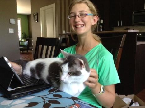 Loki helping Mikhaila with her blog post!