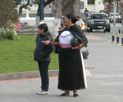 Traditional outfit in Otavalo