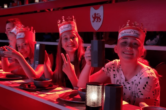 Enjoy the dinner at Medieval Times!