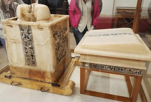King Tutankhamun's Canopic Jars for internal organs.