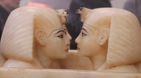 Close up on the Canopic Jars