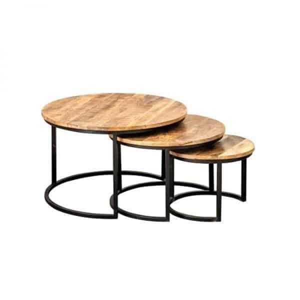 taula round coffee table with lower
