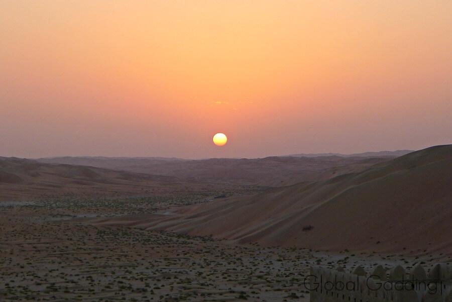 beautiful liwa desert sunset