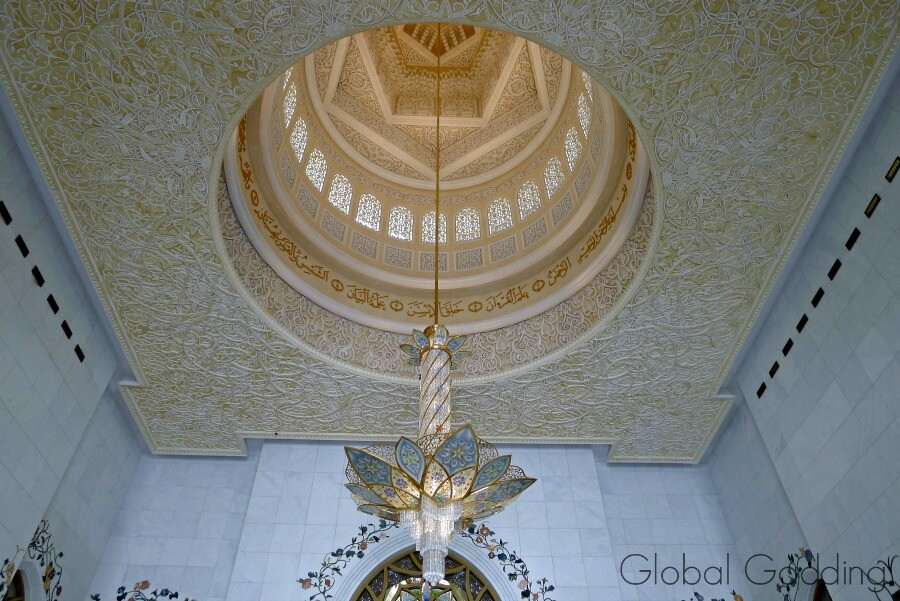 blue chandelier grand mosque