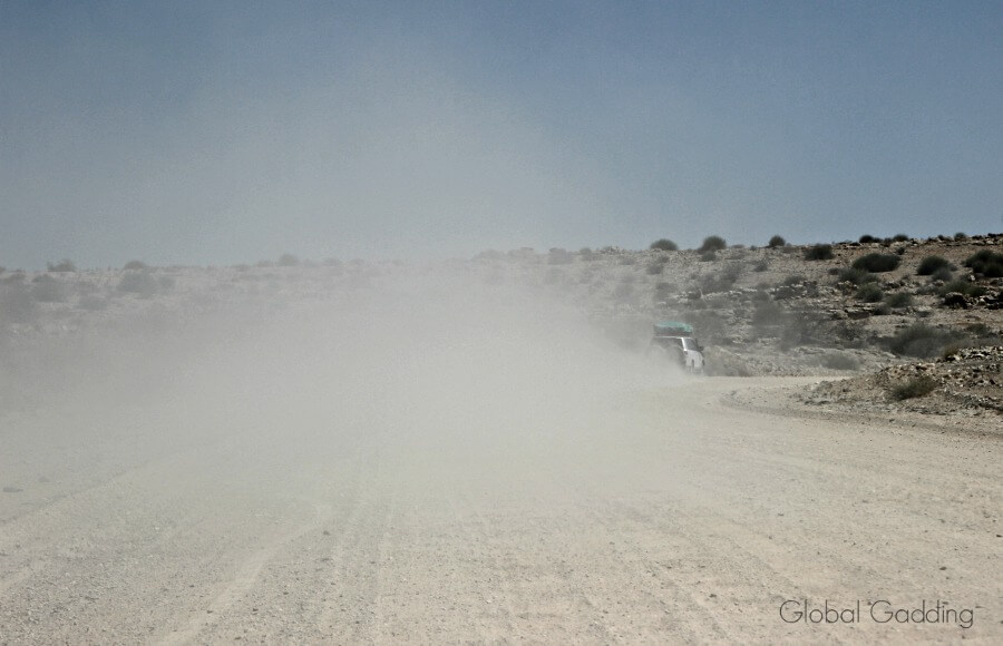 Namibia Road Dust Cloud