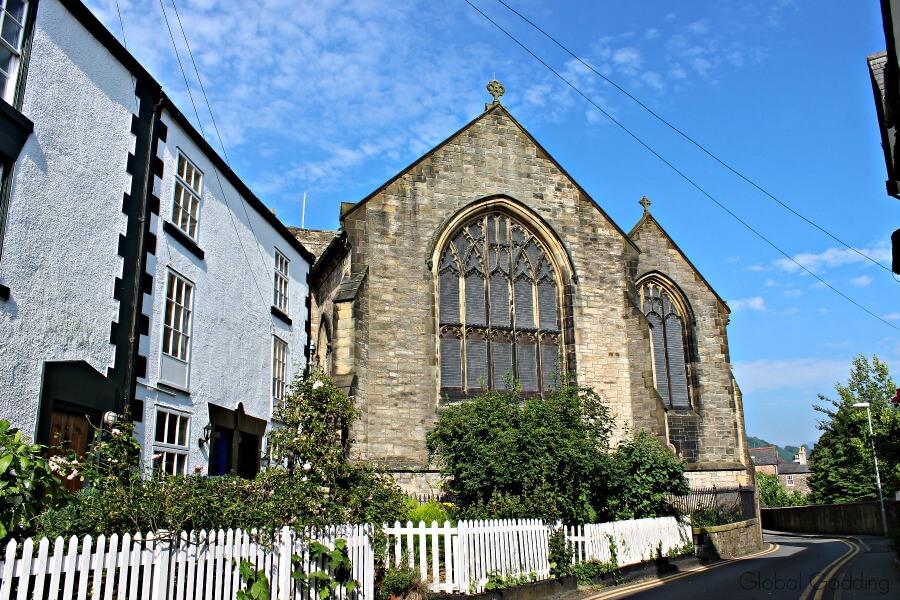 picturesque llangollen church street view