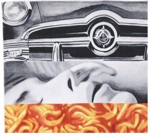 JAMES ROSENQUIST - Untitled (Spaghetti talk)