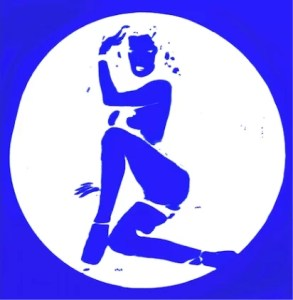 JOHN MOORE Blue girl in a circle - ART WORKS