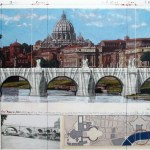 Christo Ponte Sant Angelo wrapped photography with collage - Graphics