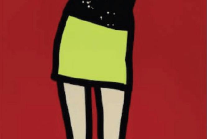 Julian Opie - Sara Dancing, silkscreen on painted wood. Global Galleries