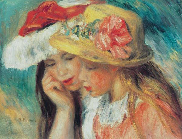 Pierre Auguste Renoir Les Deux Soeurs Art Print
