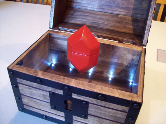 Legend Of Zelda Floating Rupee Engagement Ring Box