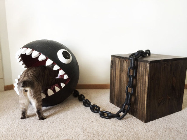 Super Mario Bros. Chain Chomp Cat Bed