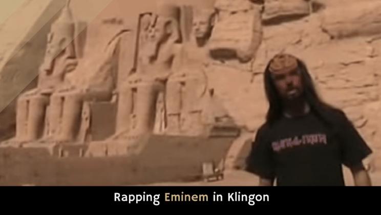 Rapping Eminem in Klingon - Qapla'!
