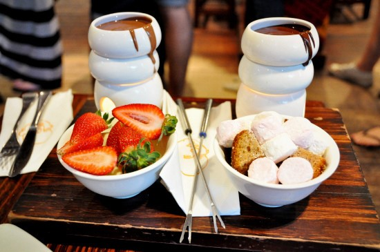 Chocolate Fondue Tower, Max Brenner, Best Dessert Bars In New York