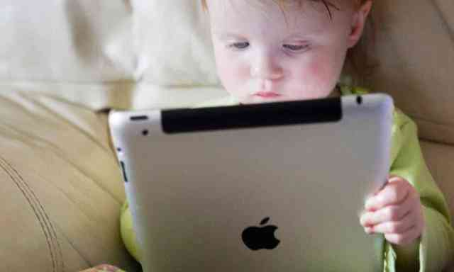 Usage of tablets by babies under 30 months via The Guardian