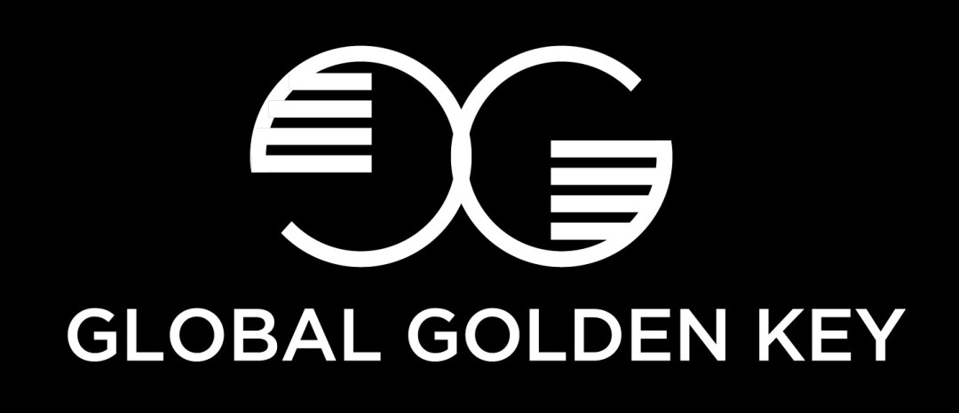GLOBAL GOLDEN KEY Logo Yatay Siyah