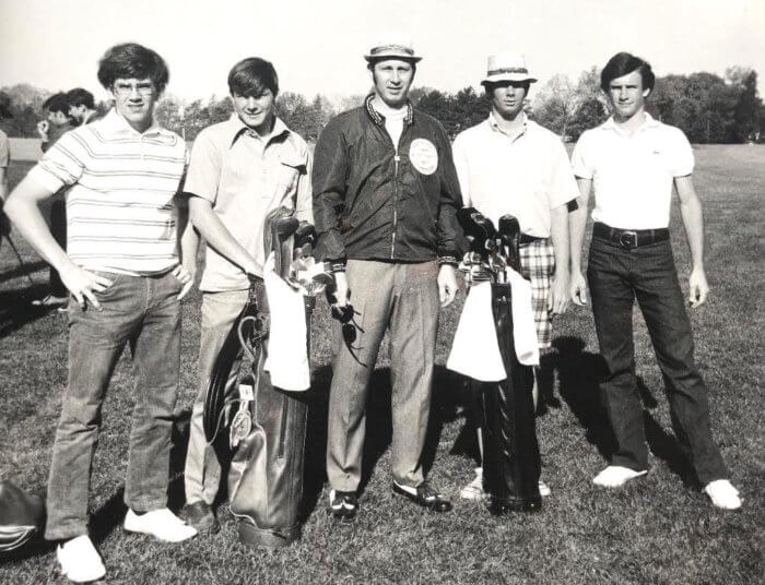 Chip Lutz, High School golf team