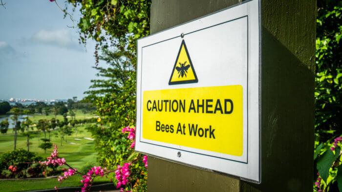 Sentosa Golf Club Bee Sanctuary Sign
