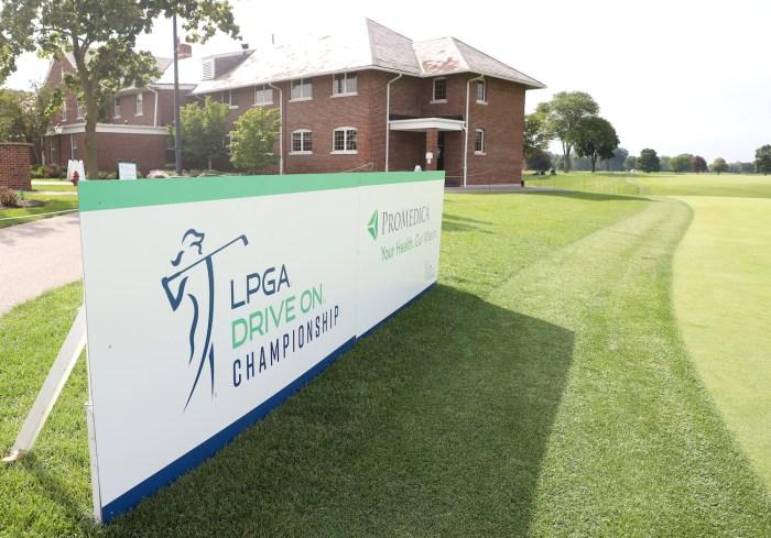 LPGA Drive On Championship Sign