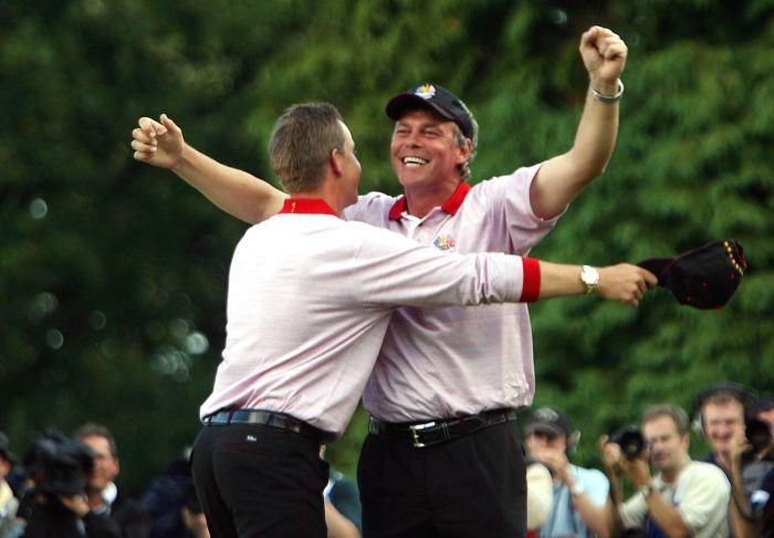 Darren Clarke, Henrik Stenson celebrate 2006 Ryder Cup