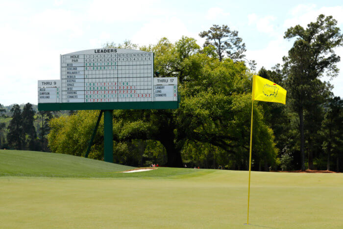 Augusta National 18th green