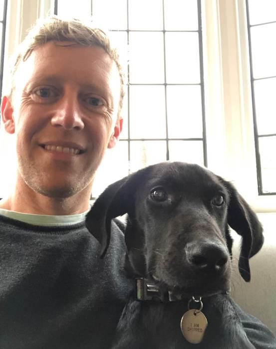 Sam Harrop, dog Romey