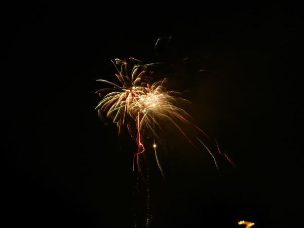 Diwali celebration firework over NW London