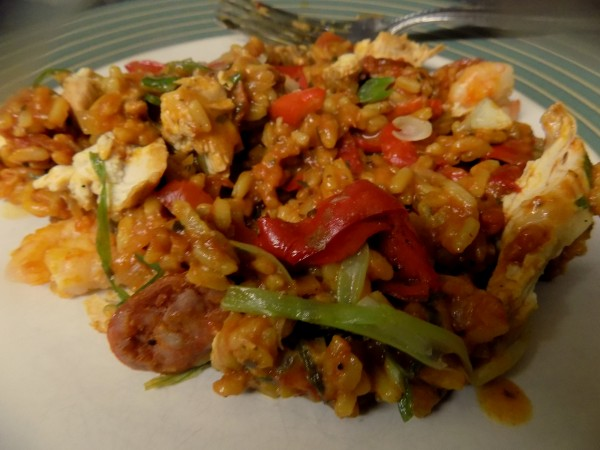 Chicken & Prawn Paella, Photo by PH Morton