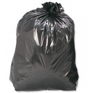 The ever about black rubbish refuse sacks