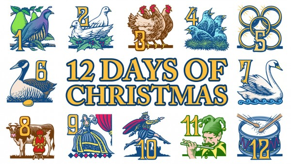 Twelve Days of Christmas, art from www.forbes.com