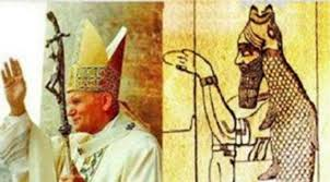 Pope John Paul II wearing his Mitre