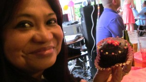 The proof is in the eating of the cupcake, lol, Photo by PH Morton
