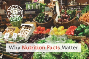 Image of groceries. The Nutrition Facts label provides information to the consumers about the nutrients of food items.