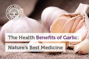Cloves of garlic. Most of the benefits of garlic come from sulfurous compounds like allicin and its derivatives.